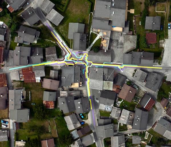 瑞士,维尔科林(Vercorin) 几何街(Geometric streets)
