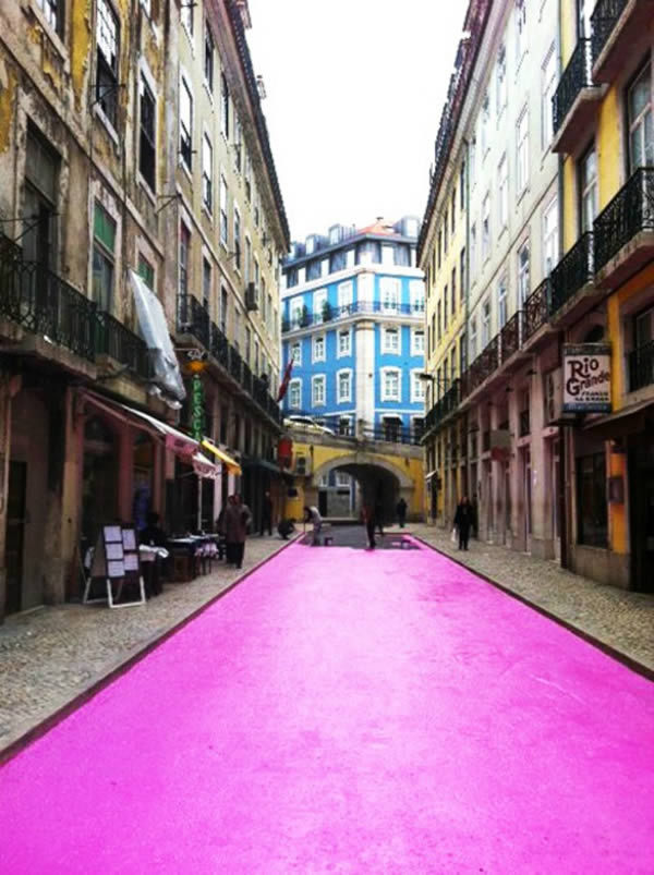 葡萄牙,里斯本 粉红街